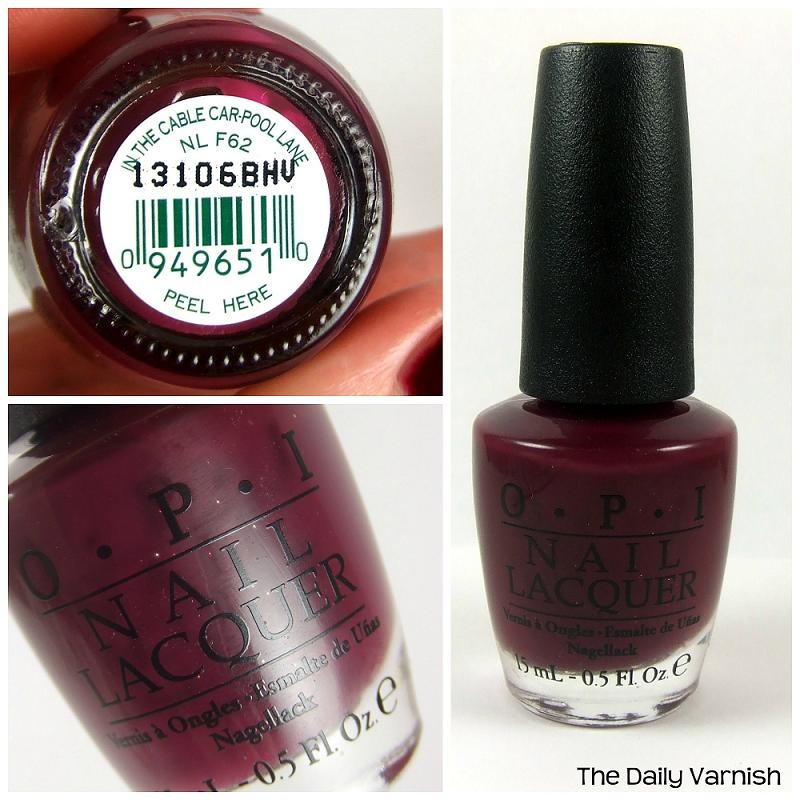 OPI In The Cable Car-pool Lane F62