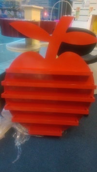 Wooden Apple Polish Rack in RED
