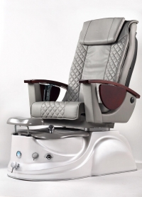L.N Spa Pedicure Chair Silver Grey