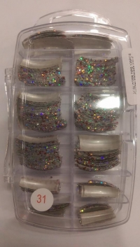 Glitter Tips Permanent 31 ( 135 pcs )