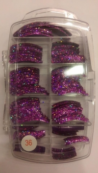 Glitter Tips Permanent 36 ( 135 pcs )