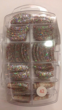 Glitter Tips Permanent 42 ( 135 pcs )