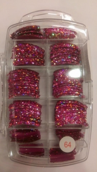 Glitter Tips Permanent 64 ( 135 pcs )
