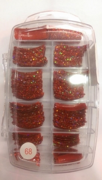Glitter Tips Permanent 68 ( 135 pcs )