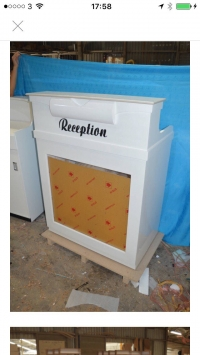 L.N Reception Desk Model 1 All White