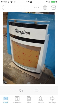 L.N Reception Desk Model 2 Black &...